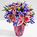 ProFlowers - 19 Count Multi-Colored Deluxe Birthday Spectacular w/Free Clear Vase - Flowers