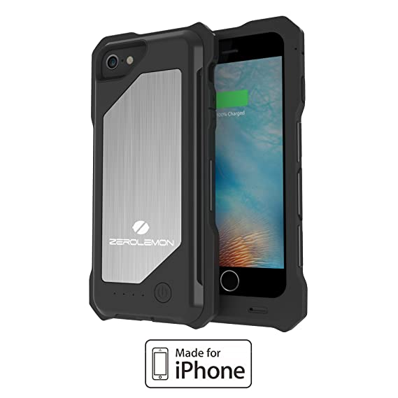 new arrivals 46d40 b57c3 iPhone 6 Battery Case [Apple MFi Certified], ZeroLemon ZeroShock External  Protective 3500mAh Capacity for iPhone 6 4.7″, (Fits All Mobel carriers of  ...