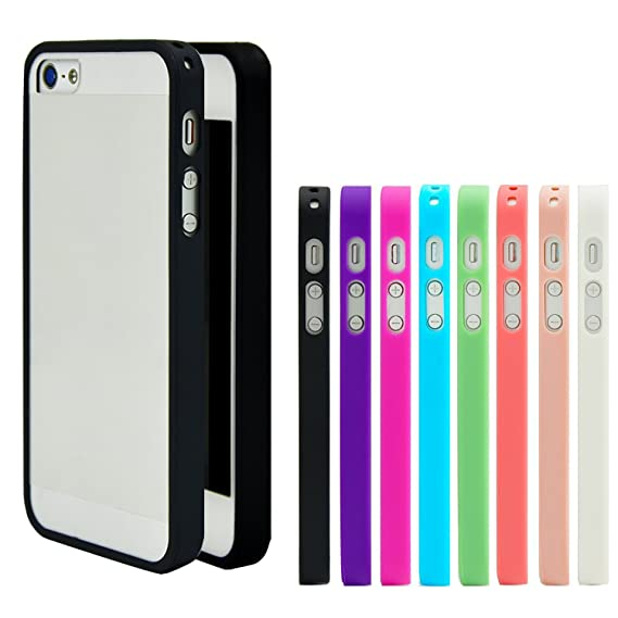 check out 78f02 b835c iPhone 5 Case, Costyle Wholesale 8pcs/lot 8 Colors Soft Trim High Clear  Back Hard Cover Bumper Case Skin for New iPhone 5 SE 5G 5S 5GS