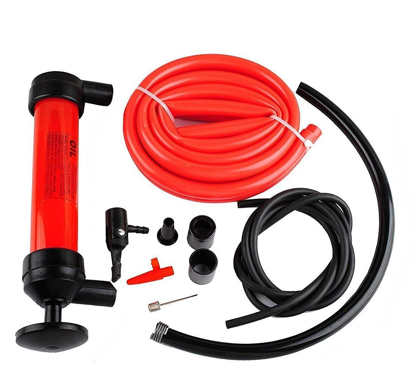 Wadoy Jiggle Syphon Self Priming Gas Siphon Pump Gasoline/Fuel/Water Shaker Siphon Safety Self Priming Hose 6ft -1/2' Valve
