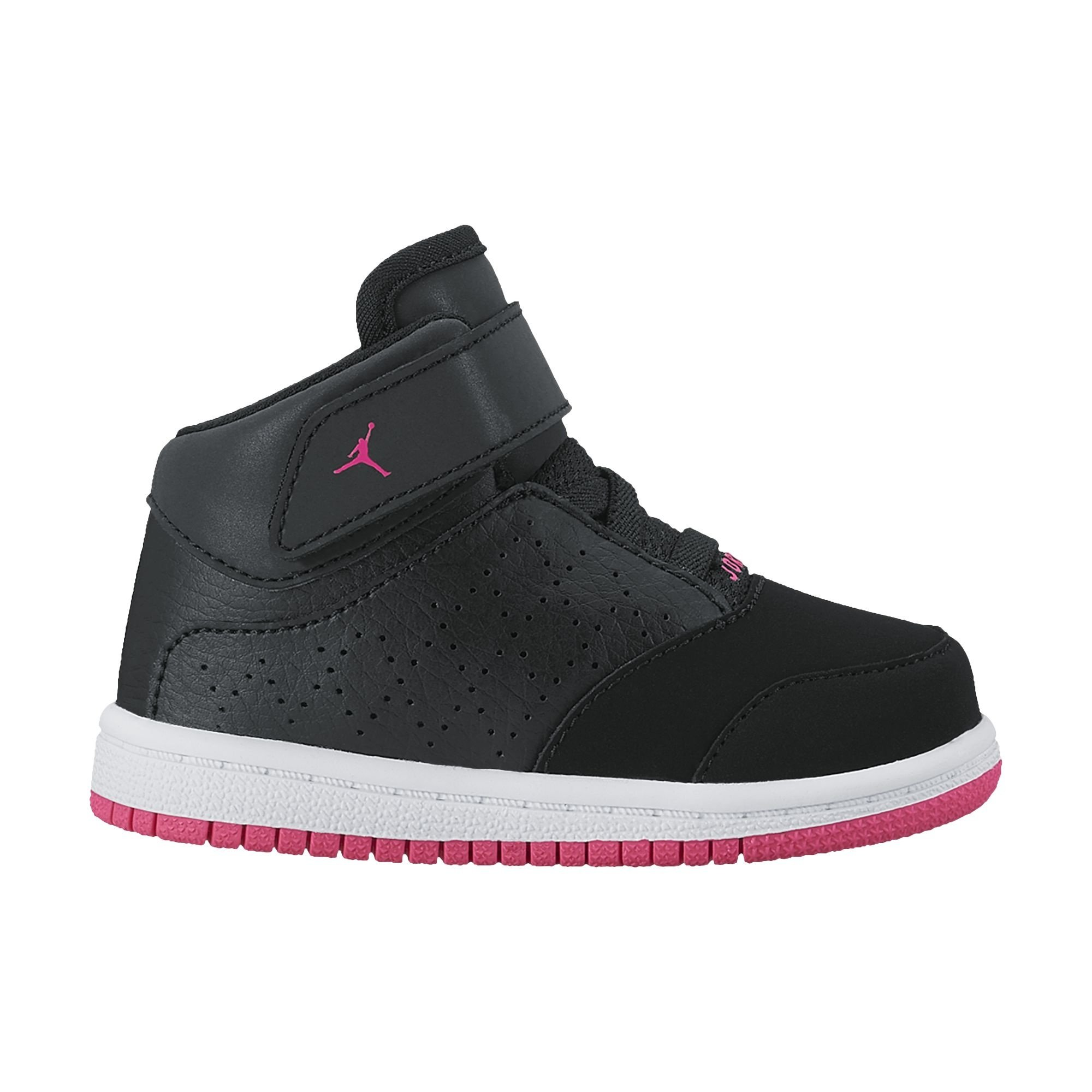 NIKE Jordan Toddler's 1 Flight 5 Premium (GT) Black/Hyper Pink-White 881437 002 (8c)