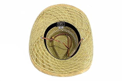 47aaf8dac8b Dorfman Pacific Mens Rush Straw Lightweight Outback Hat with Chin Cord