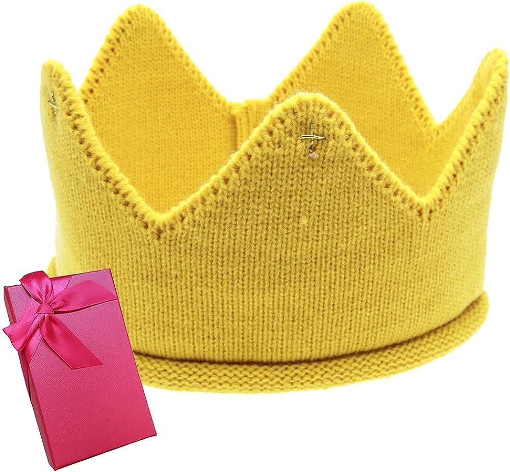 Elesa Miracle Baby Boy Girl Crown Hat Baby Boy Birthday Hat Toddler Knit Crochet Warm Beanie Cap