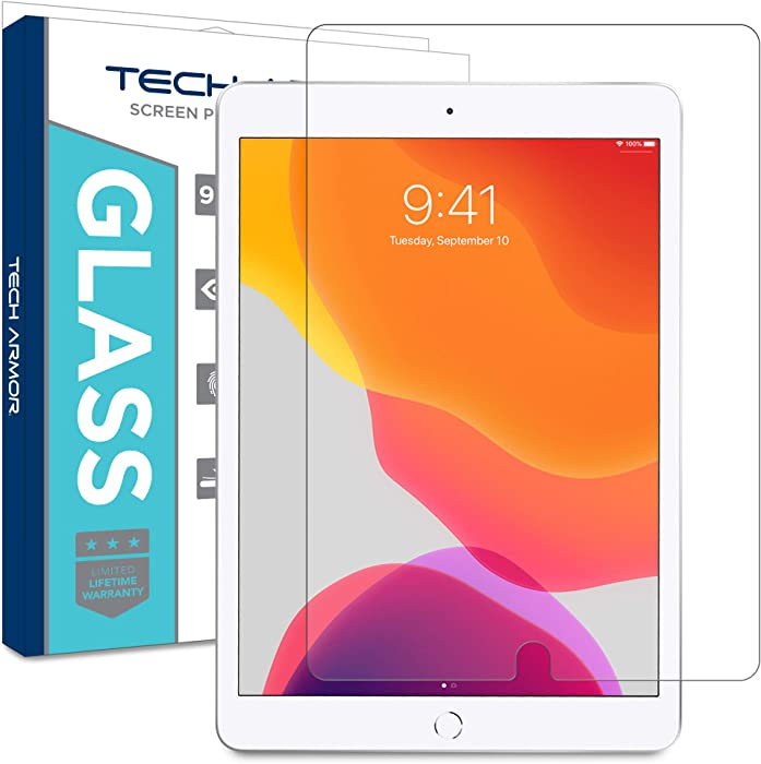 Tech Armor Ballistic Glass Screen Protector Designed for New Apple iPad 10.2 inch (2019) – Extreme Touch Sensitivity (Works with Apple Pencil) [1-Pack]