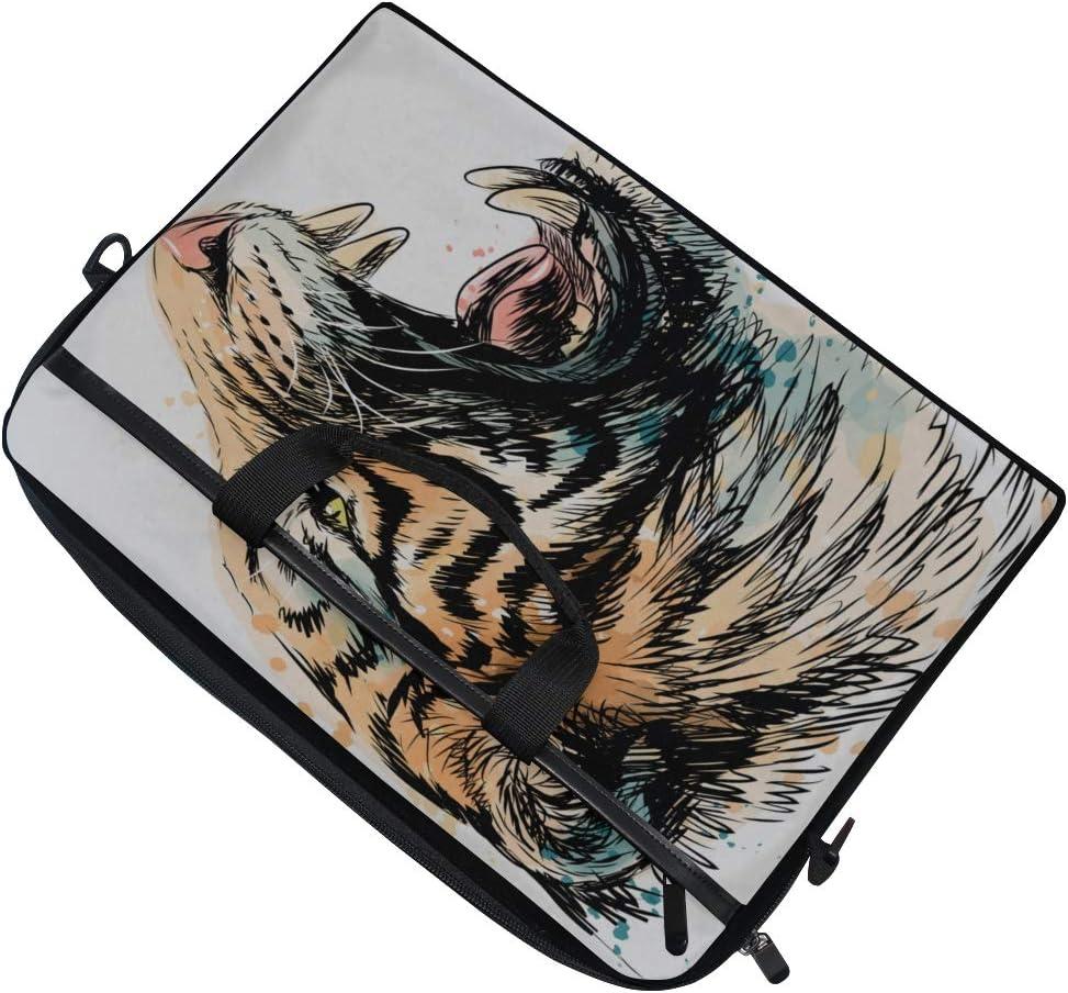 Laptop Bag Sketchy Portrait Tiger On White 15-15.4 Inch Laptop Case Briefcase Messenger Shoulder Bag for Men Women College Students Business People