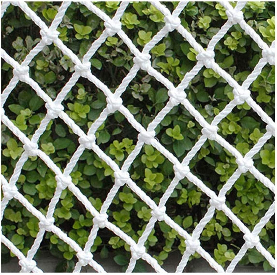 Climbing Rope Net Hanging Net Safety Net White Stair Playground Cargo Trailer Net Toy Pet Safety Railing Childrens Terrace Balcony Protection Net Size : 1 * 1M Ceiling Decoration Net