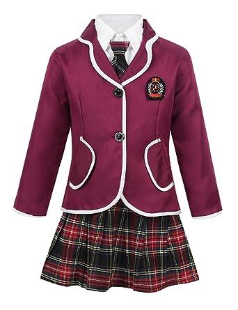 YiZYiF - Uniforme Escolar para niña, Disfraz de Anime japonés ...