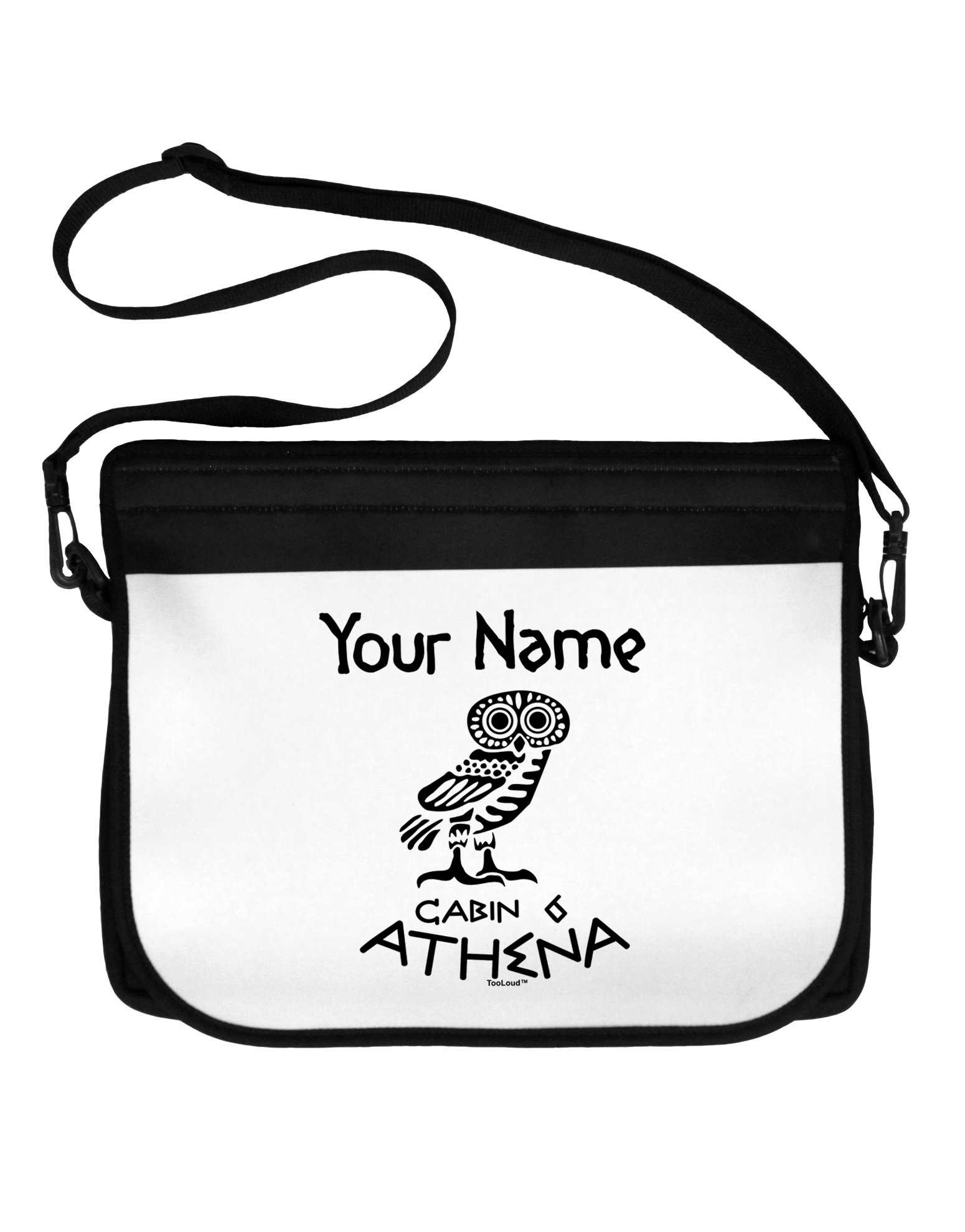 TooLoud Personalized Cabin 6 Athena Neoprene Laptop Shoulder Bag
