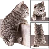 Collections Etc Kitty Peeker Over The Fence Figurine, Grey