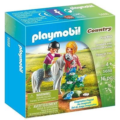 PLAYMOBIL Pony Walk: Toys & Games