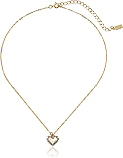 """product image for 1928 Jewelry """"Love Hearts"""" 14k Gold Dipped Crystal Accented Adjustable Pendant Necklace, 16"""""""