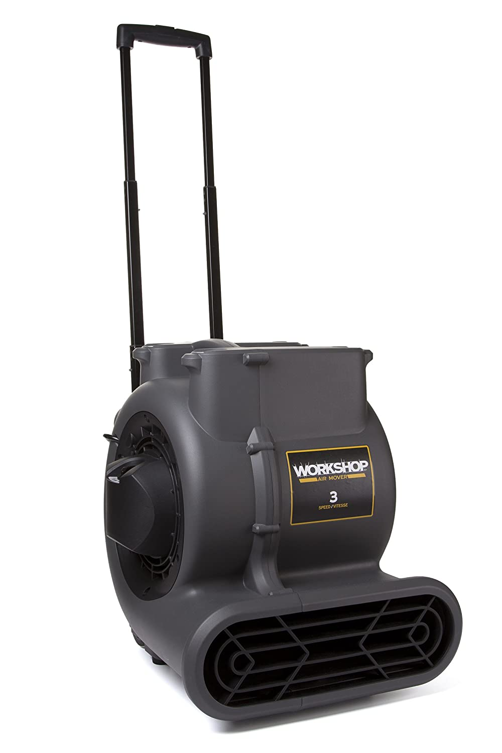 WORKSHOP WS1625AM Air Mover Fan & Carpet Dryer, High Velocity Blower Fan/Floor Dryer with Collapsible Handle & Wheels