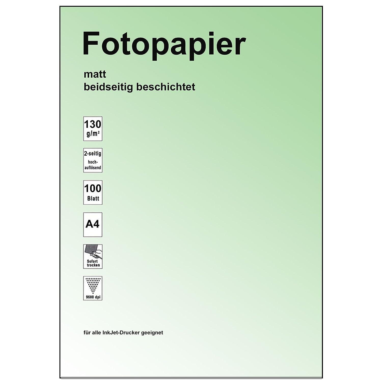 200 Blatt A4 Inkjet Papier 2-seitig beschichtet photo-matt,130g