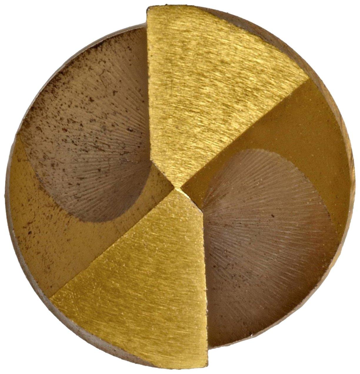 49//128 Diameter x 5-1//8 Length Straight Shank 135 Degree YG-1 D2GP High Speed Steel Gold-P Jobber Drill Bit TiN Finish W Size Slow Spiral Pack of 5