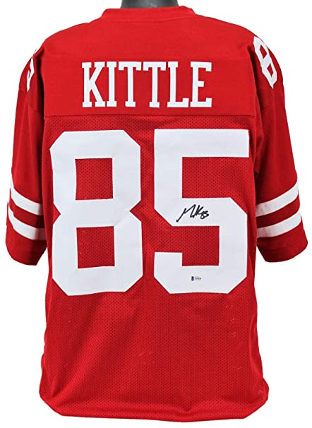 13d39c0ef Autographed George Kittle Jersey - Red BAS Witnessed - Beckett  Authentication - Autographed NFL Jerseys