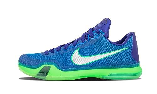 8b24bcc3 Nike Kobe X, Zapatillas de Baloncesto para Hombre, Azul/Morado/Verde (