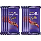 Cadbury Dairy Milk Silk Chocolate Bar, Fruits and Nuts, 55g (Pack of 8)
