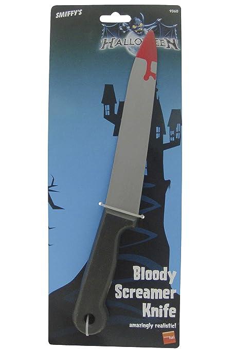 Smiffys Cuchillo con Manchas de Sangre, 33cm