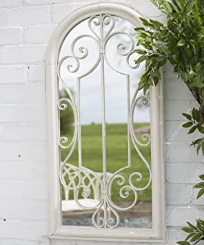 La Hacienda Scrolled Arch Outdoor Garden Mirror
