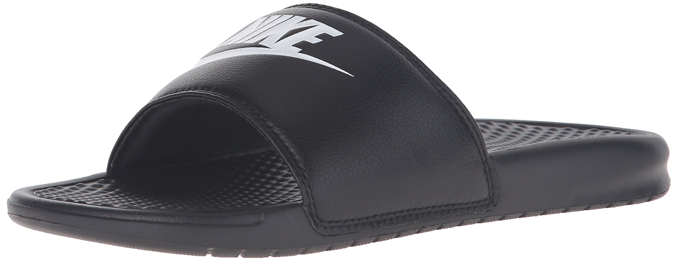 Nike Men's Benassi Just Do It Athletic Sandal, black/white, 14 D(M) US