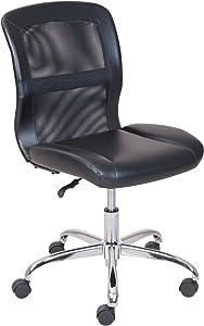 Mainstay Bl Vinyl and Mesh Task Chair, (Black)