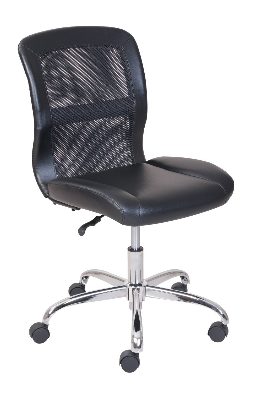 SCRIVANIA DA UFFICIO SEDIA maglia nera e Pelle PU chairmart Studio Tavolo Sedia riunioni lavoro camera - ONE sedia