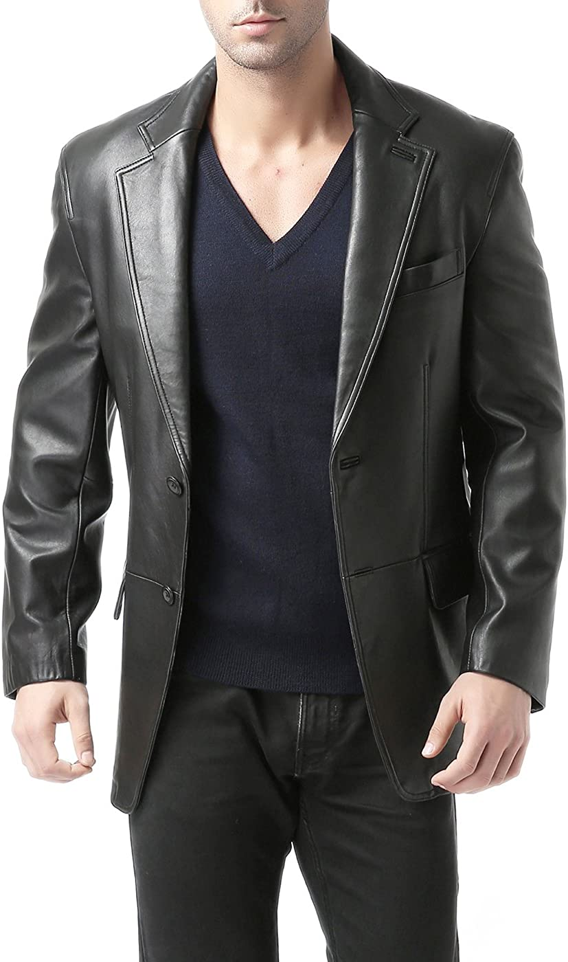 Mens Dark Brown Suede Smart Five Button Classic Leather Blazer Style Waistcoat