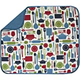 S&T 450000 Microfiber Dish Drying Mat, 16 by 18-Inch, Teal Kitchen Utensils