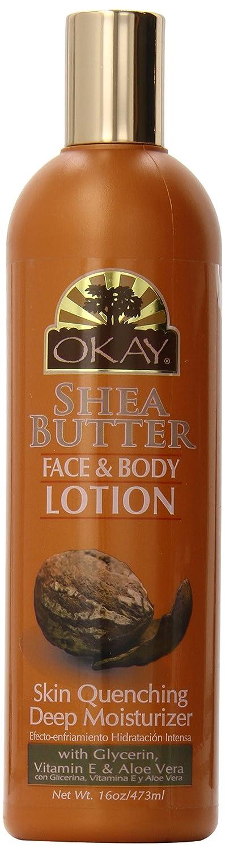 OKAY Face and Body Lotion, Shea Butter, 16 oz. OK-OKAY-LSHEA16