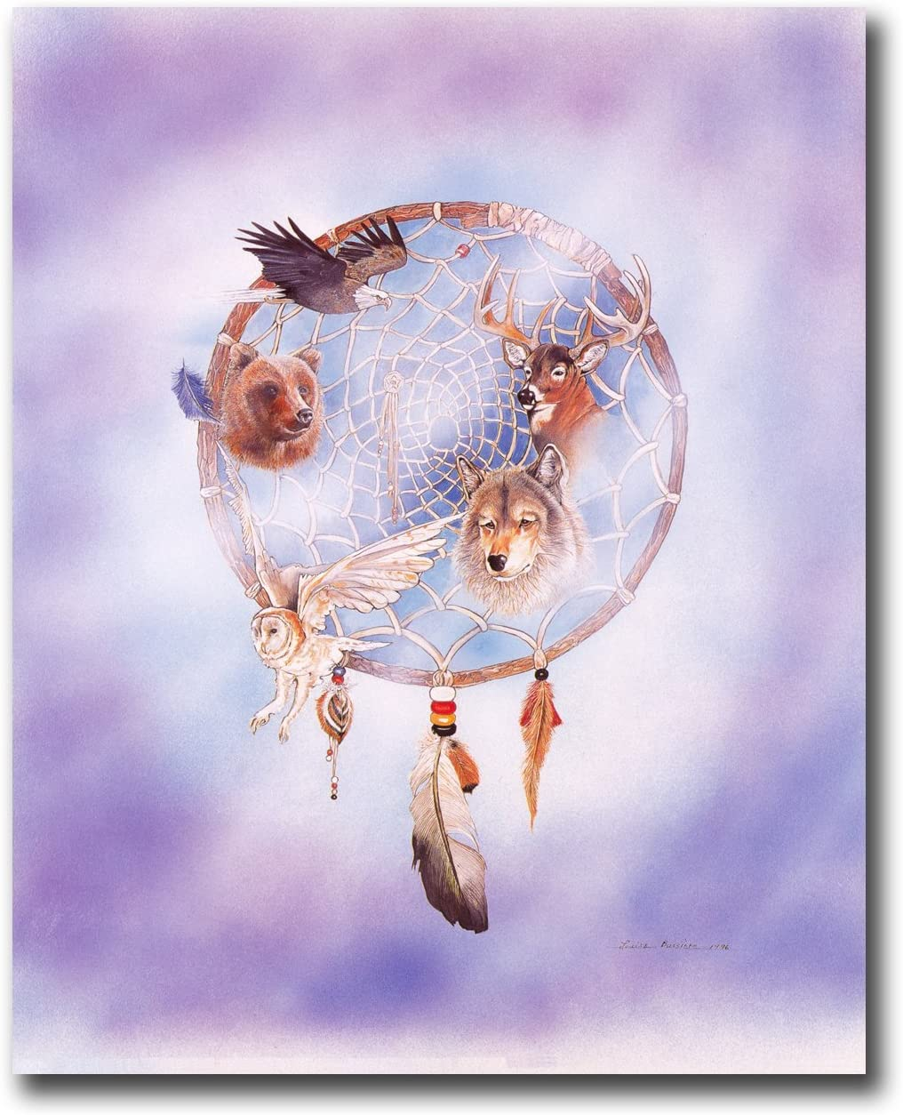 Native American Cottontail Indian Girl Picture Art Print 8x10