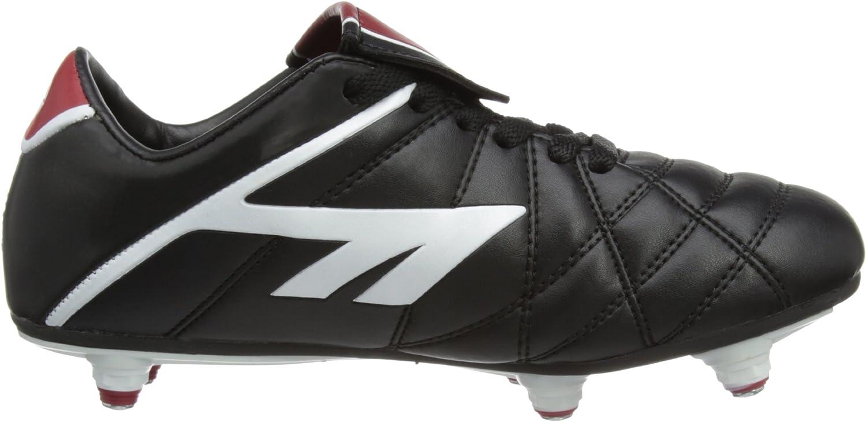 Hi Tec Hi-Tec Boys /& Girls League Pro Studded Football Rugby Boot Black Black White Synthetic UK Size 5 EU 37, US 6