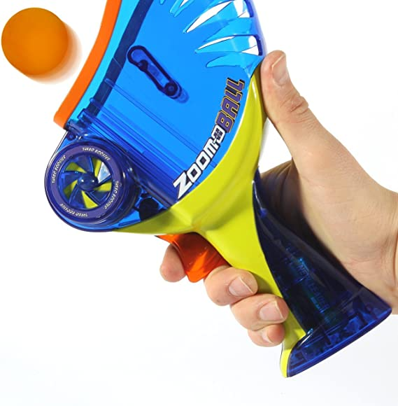 Amazon.com: zoom-o pelota lanzador con Catch cesta: Toys & Games