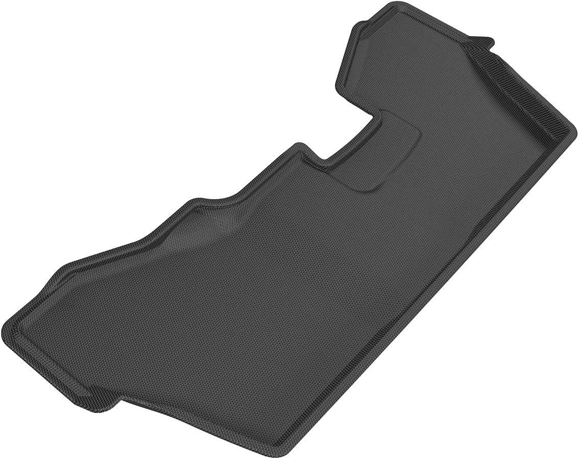 3D MAXpider Third Row Custom Fit All-Weather Floor Mat for Select Honda Pilot Models Black Kagu Rubber