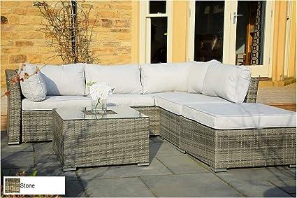 Amazon.com: Envelor - Conjunto de muebles de jardín y mimbre ...