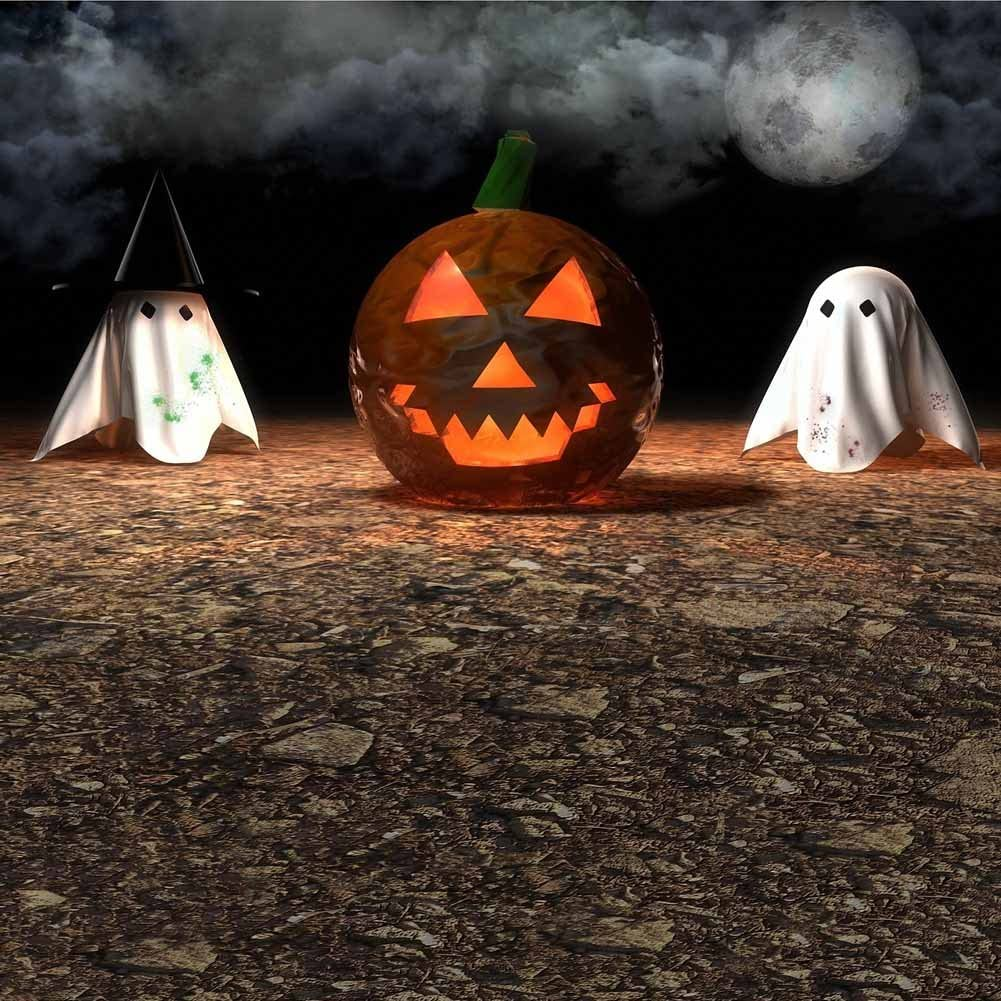 GladsBuy Halloween Pumpkin 8 x 12 Computer Printed Photography Backdrop Halloween Theme Background DGX-24