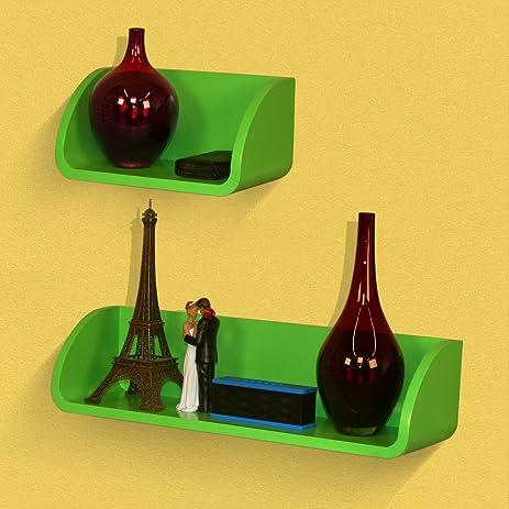 Amazon.com: SLS Vision. Set of 2. Floating Decorative Green Wall ...
