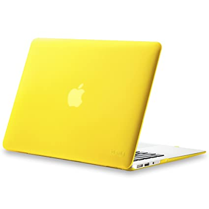 innovative design 86089 c50ab Kuzy MacBook Air 13 inch Case A1466 A1369 Soft Touch Cover for Older  Version 2017, 2016, 2015 Hard Shell - Yellow