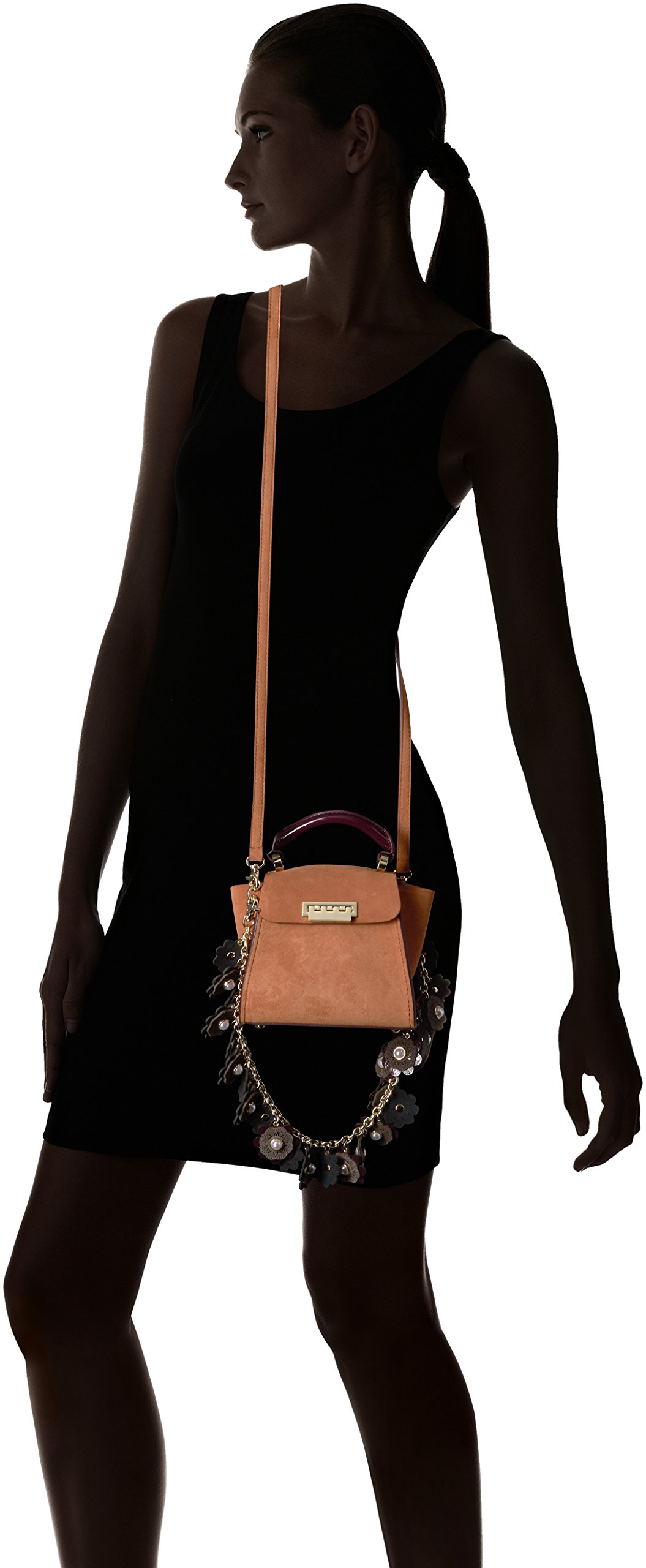 ZAC Zac Posen Eartha Iconic Top Handle Mini-Suede Colorblock W/ Baglace by ZAC Zac Posen (Image #6)