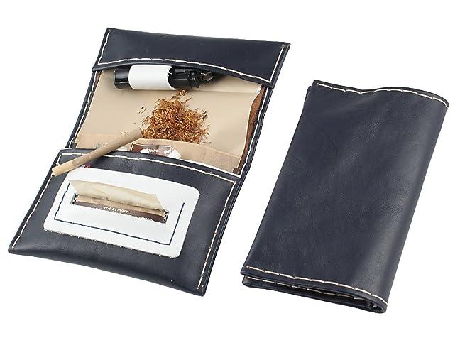 Estuche Bolsa de Tabaco en cuero genuino - hecho a mano en ...