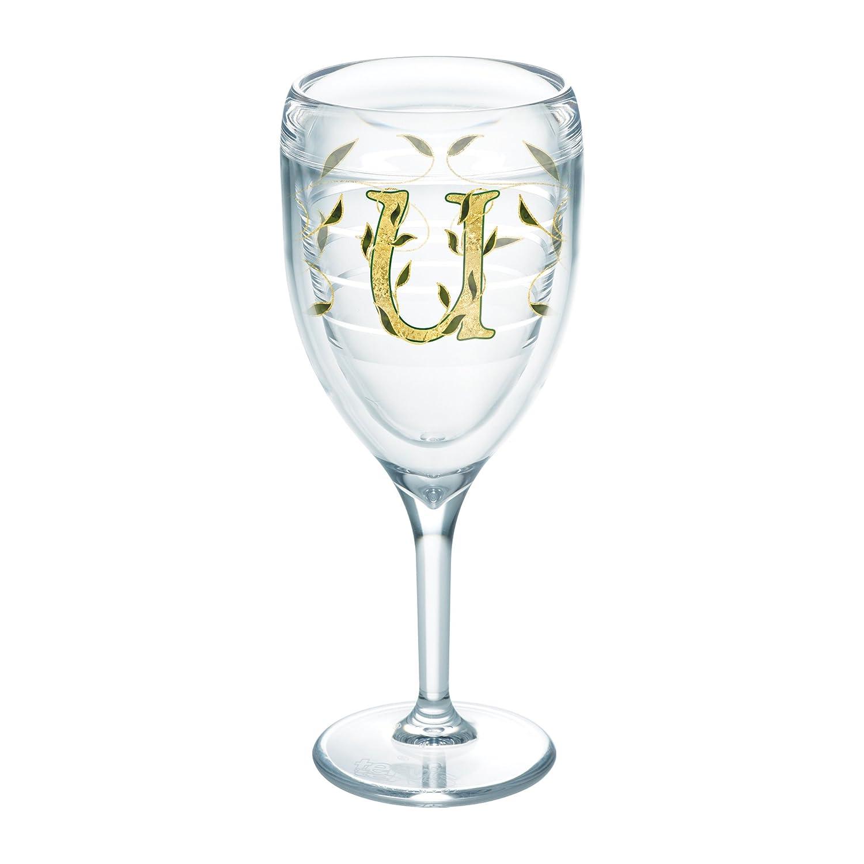 Tervis Initial U Wrap 9oz Stemmed Wine Glass Clear 1235568