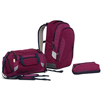 5b0413a9d9586 Satch Sleek Pure Purple Schulrucksack Set 3tlg. inkl PenBox und Sporttasche