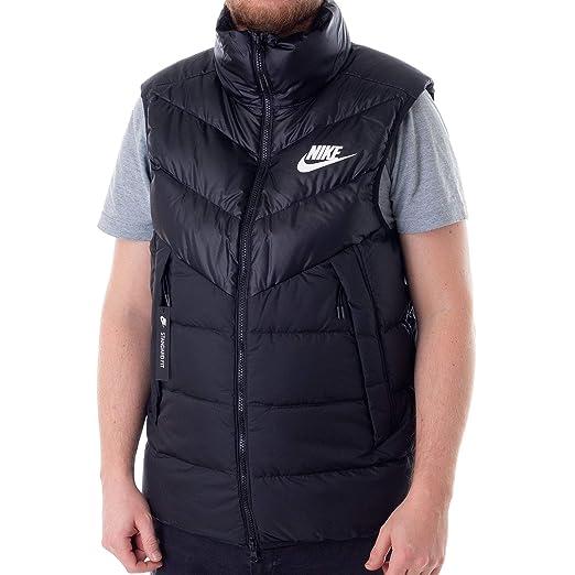 fc60d6a1c642 Amazon.com  NIKE Mens M NSW DWN Fill WR Vest 928859-010 S - Black Black  Black White  Sports   Outdoors