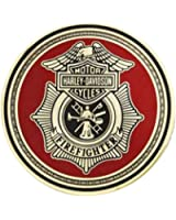 Harley-Davidson Firefighter First In Last Out Challenge Coin 1.75'' 8002923