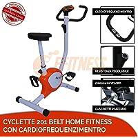 FFitness Offerta Cyclette 201 Belt Bici da Camera DIMAGRIRE CARDIOFREQUENZIMENTRO Home Fitness Nera Belt Allenamento da CASA