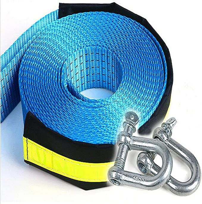 Ken-Tool Tow Strap Towing Rope Heavy Duty Road Recovery Straps 5M 8Ton//17000Ib Glow At Night