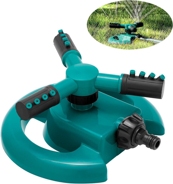 Garden Lawn Sprinkler, Automatic Water Sprinkler for Garden Lawn, 360 Degree Rotating 3 Arm Water Sprinkler Irrigation System, Wide Cover for Home Cooling, Agricultural Irrigation