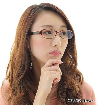 88d540a3f276e6 Amazon | 近眼 近視 メガネ【 CF5044C2-1.00 PD66 】 近視眼鏡 メガネ ...