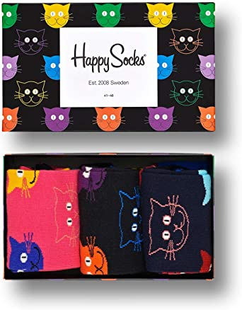 Happy Socks  3 Pairs Book Lovers Selection Combed Cotton  Women's Size 9-11