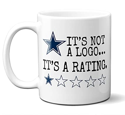 6eb73fb05 Funny Dallas Cowboys Suck Mug. It's Not a Logo It's a Rating. Perfect Gift