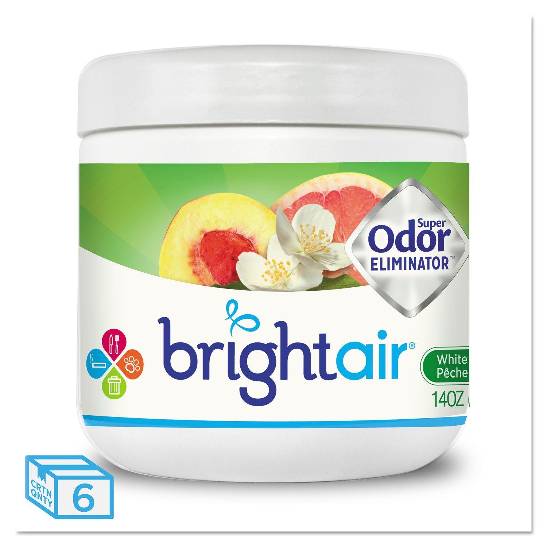 Bright Air 900133CT Super Odor Eliminator White Peach and Citrus 14oz 6/Carton by Miller Supply Inc